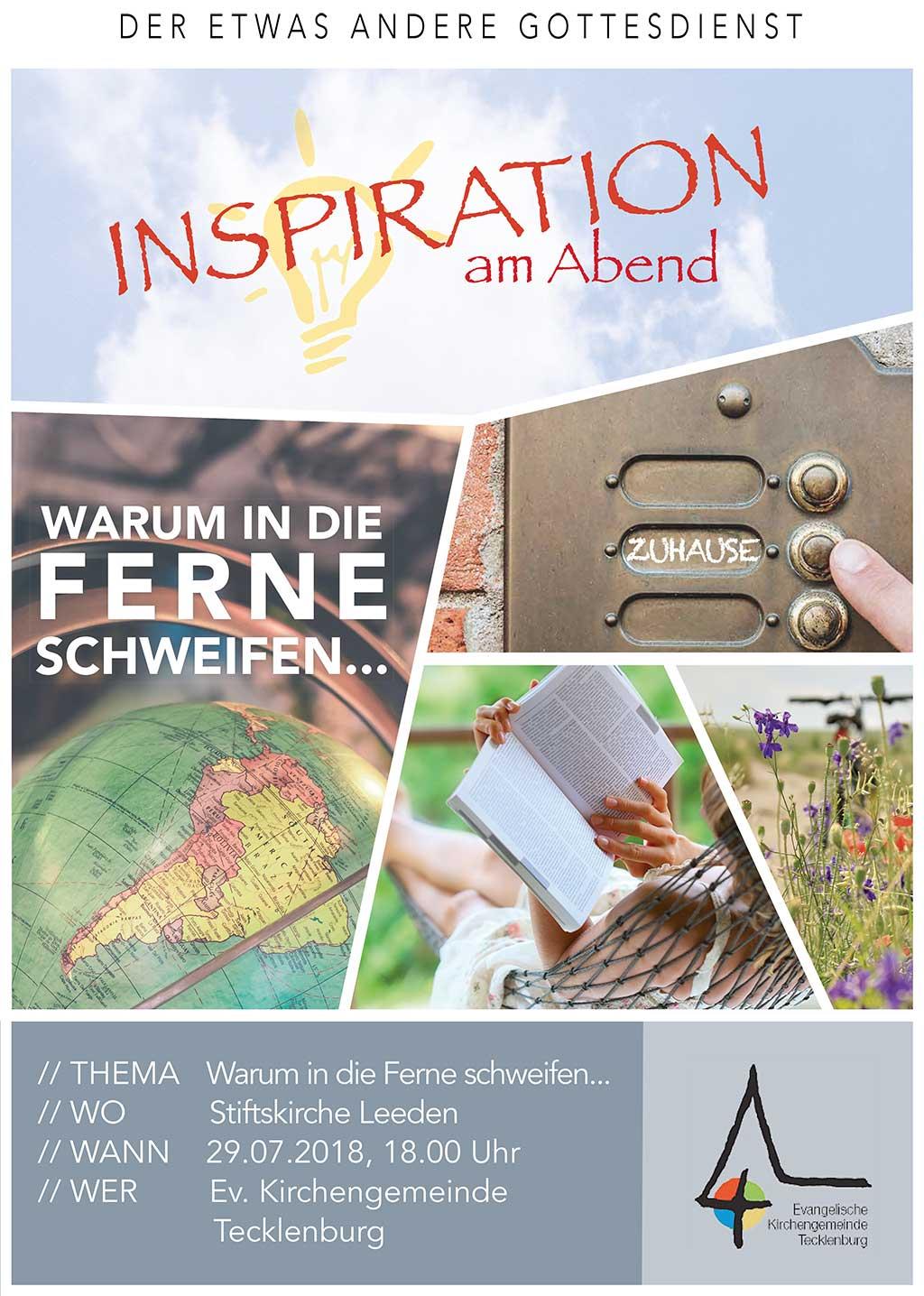 Inspirationsgottesdienst Juli 2018 : Evangelische Kirchengemeinde ...